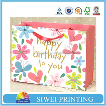Decorative Ribbon Knot cute paper bag for birthday gift