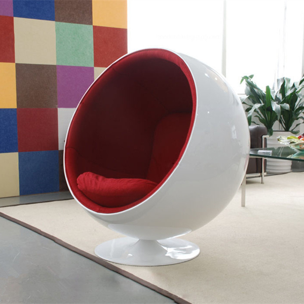 Fiberglass Eero Aarnio Ball Chair Egg Pod Chair Ikea