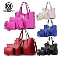 Hot sale 3 pcs in 1 set handbags for women fashion ladies handbag wallet china wholesale women bags