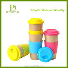 Custom 100% eco friendly rice husk fiber coffee sublimation mug