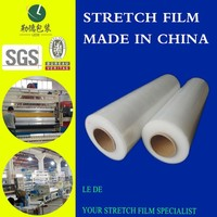 well made LLDPE stretch film/ manual use wholesale clear wrap film for outlet