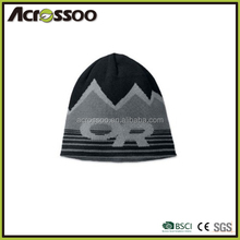 Cheap Custom Jacquard Knit Winter Hat/Mens Acrylic Knitted Beanie