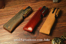 Pure handmade leather/PU pen storage case/pencil carrying case