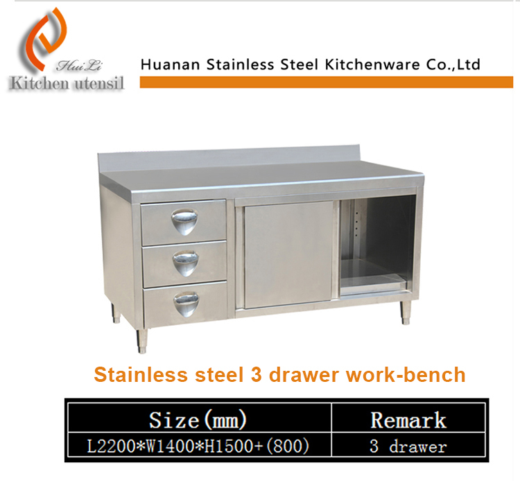 Stainless Steel Buffet Table Heavy Duty Work Bench Stainless Steel