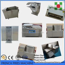 Frozen french fries machinery/Potato french fries making machine/Frozen french fries production line