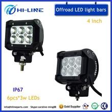 4 Inch high intensity LEDs Offroad DC 12V 24V 18W LED Light Bars Aluminum for SUV Truck