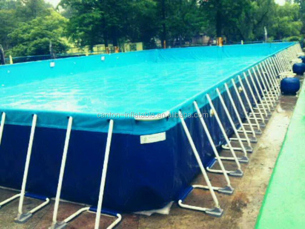 2015 funny rectangular above ground strong intex metal for Square above ground pool