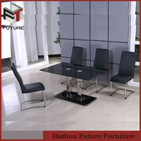 stainless steel dining table and chair sets