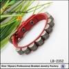 high quality belt leather bracelet, practical button bracelet wholesale
