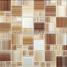 crystal glass mosaic tile with flower marble mosaic tile G455007