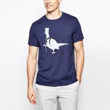 custom man animal rubber print on t-shirt wholesale