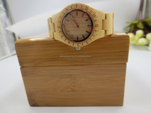 Fashion analog wood watch japan quartz women watch wood