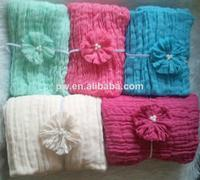 Wholesale - Newborn Photography Hand Dyed Strong Cheesecloth Wrap Photo Props Wrap Full Set with Headband 200cmx90cm 36 Colors