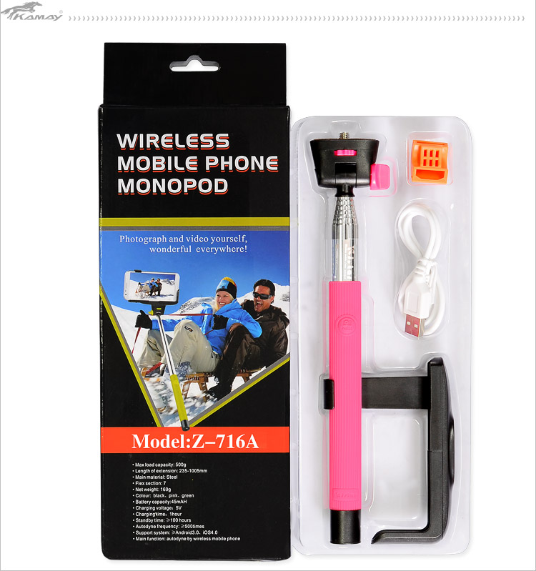 Extendable Cheap Handheld gopro accessories camera wireless monopod
