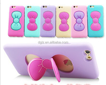 For victoria secret pink silicone phone case, rabbit ear silicone mobile phone case, phone case silicone