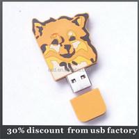 gift 8GB animal shape pvc usb 2.0 flash drive