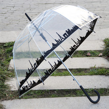 Hot Sale Promotion Plastic Umbrella .PVC Poe And Transparent