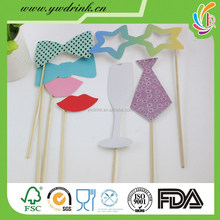 New Sale! Different Styles DIY Photo Booth Props Hat Mustache On A Stick Wedding Birthday party fun favor