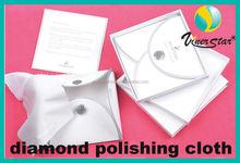 Pcs of microfiber custom logo printed silver polishing cloth with button