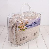 High Quality Steel wire PVC plastic zipper blanket bag with rope handle factory direct sale