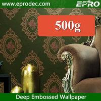 Waterproof big flower pvc wallpaper for hotels