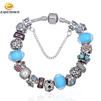 Hot New Products Fashion Bracelet Jewelry 2015 large hole metal beads loose beads european charm bracelet