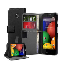 Wallet Leather Case Cover Pouch for Motorola Moto E 2nd Gen