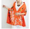 Cashmere-like Orange Color Butterfly Jacquard Winter Pashmina Wrap