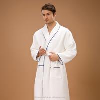 hot sale cotton bathrobe white double layer waffle bathrobe /robe pointe