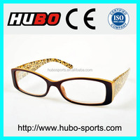 CE new design wholesale PC lens reading glasses with figuratus temple