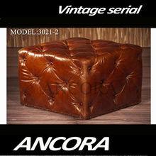 genuine leather ottoman L886
