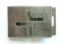 zinc die cast military buckle hardware products for belt with hollow design
