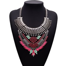 New fashion necklace high-grade gem set auger sautoir restoring ancient ways Scales lines in Europe and the geometric necklaces