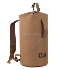 600D nylon simple fashion design duffel backpack / hiking camping rucksack bag