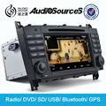Multimedia coche reproductor de dvd de mercedes CLK-W209 reproductor de CD del coche con GPS sistema de navegación con bluetooth de radio RDS FM AM HD pedregal