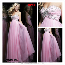 9769 Crystal Beading Plus Size Prom Dresses