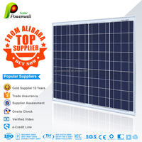 Powerwell Solar 75w polycrystalline solar modules high efficiency fiexible solar panel china price with all certificatse