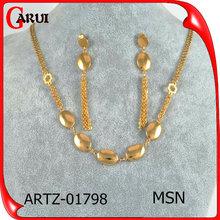 Gland de luxe boucle d'oreille ensembles de bijoux en or ensembles classiques pour femme