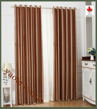 jacquared classic style brown blackout curtain for living room