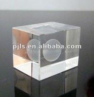 3D laser engraved Clear Crystal Block