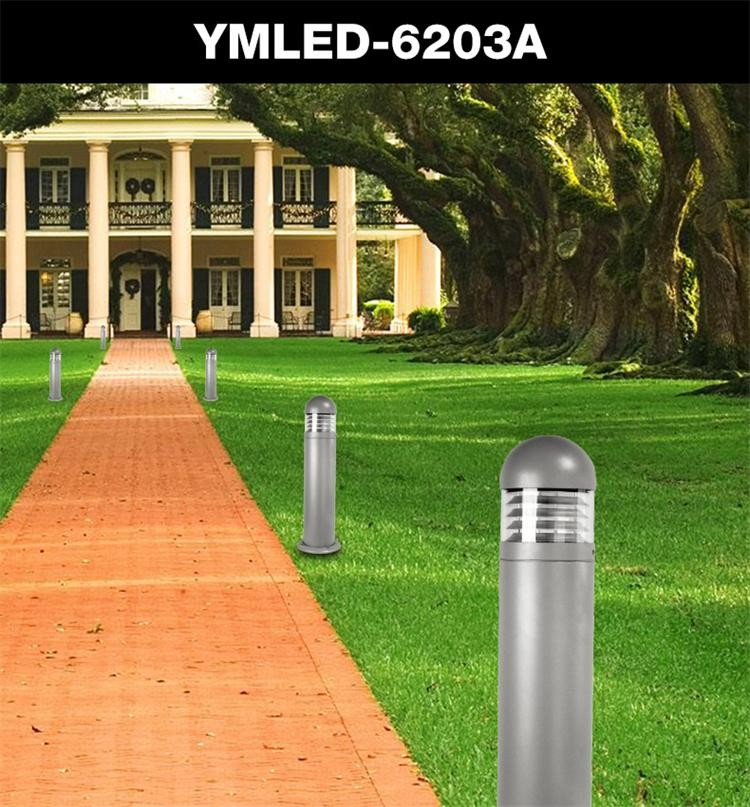 E27 ip65 waterproof 3 years warranty bollard light for garden