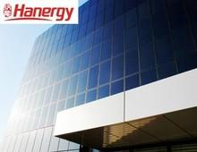 Hanergy BIPV solar hotel club curtain wall solar energy system splice panel