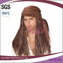 Pirate Jack Sparrow wig with cap