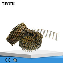 2015 good quality 15 Degree Galvanize Roofing collated Coil Nail, glass globe nail coil vaporizer