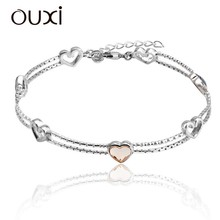 OUXI New design 925 sterling silver bracelet for woman Y50005