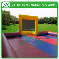 inflatable football field, inflatable soap soccer field, inflatable football pitch for sports competition