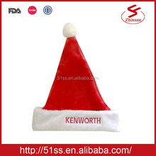 2015 Wholesale santa cap embroidered christmas hats