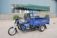 Gasoline Cargo Tricycle with Roof / 3 Wheel Cargo Motorcycle with Cabin