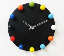 home decor wall clock , round metal wall clock,balls wall clock