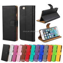 for iphone 6s leather flip case cover, stand plain cell phone pu flip leather case for apple iphone 6s